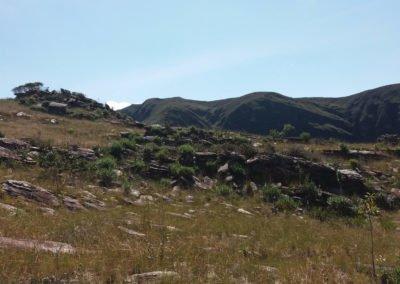 Campos rupestres e os paredões naturais do Cânion Boca da Serra